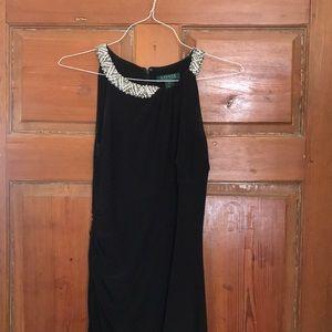 classic black Ralph Lauren formal dress, worn once